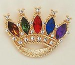 PA106: Multi-Jewel Colored Crown