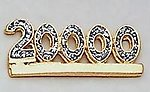 DD05: Five Digit Diamond Dust Bar Pin