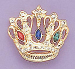 PA42: Jeweled Crown Pin