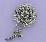 PA486: Antique Floral Pin