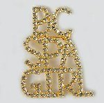 PA502: BC Spa Girl Crystal Pin in Gold or Silver