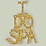 PA503: I Do Spa Crystal Pin in Gold or Silver