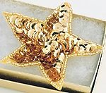 SEQ02G: Sequin Gold Star Applique