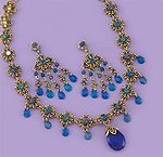 SNT109: Sapphire Crystal Necklace & Earrings Set