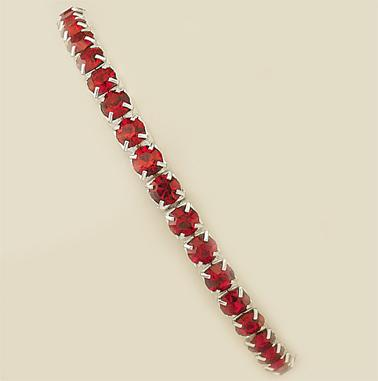 BR124R: Red Austrian Crystal Stretch Bracelet