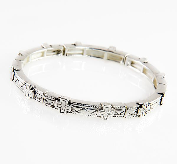 BR326: Stackable Cross Bracelet