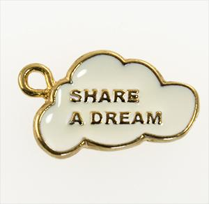 CH257: Share A Dream Charm in Gold
