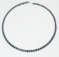 CL108: Austrian Crystal Collar (Clear or Blue)