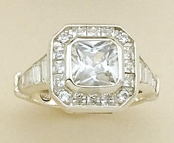 RA79: Kate Hudson Style CZ Ring (Available in Sterling Silver)