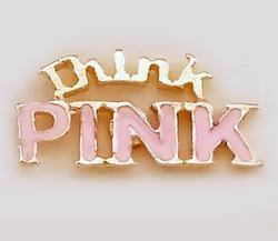 CH222: Think Pink Charm in Gold or Silver