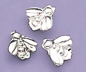 TA91S: Silver Baby Bee Tacs, dozen count