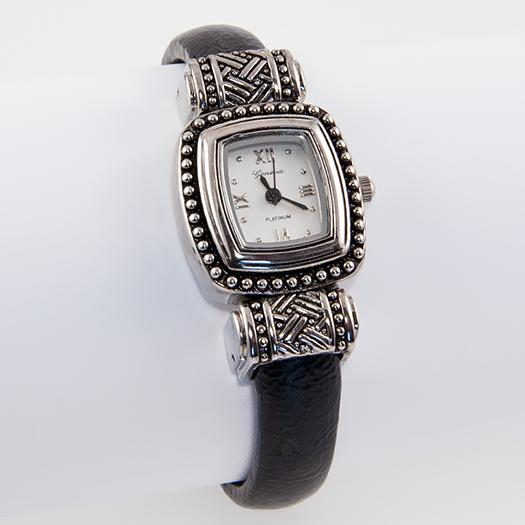 WA115: Yurmanesque Black Cuff Watch