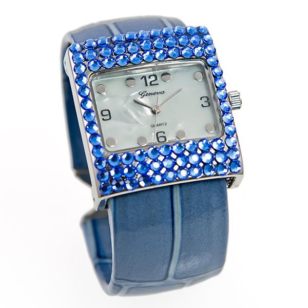 WA153: Blue Watch with Austrian Crystals