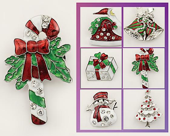 XM214:1 DZ Assorted Christmas pins