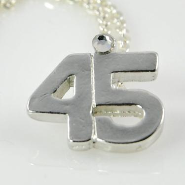 NA45: 45 Necklace in Silver or Gold