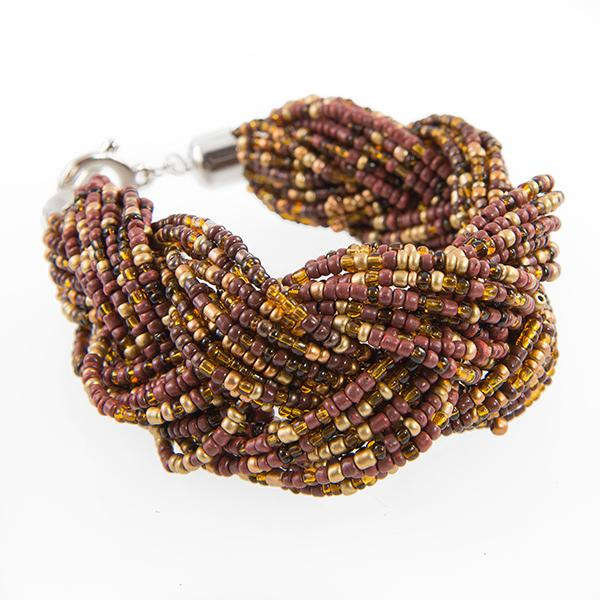 BR318: Exotic Beaded Bracelet