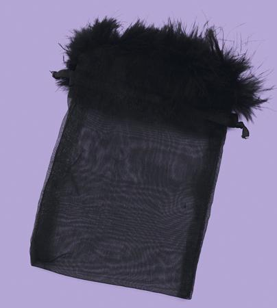 BXP023N: Navy Feather Gift Pouch