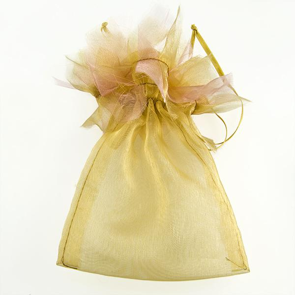 BXP44: Frilly Taupe or Fuschia Gift Pouch