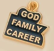 CH166: God Family Career Charm