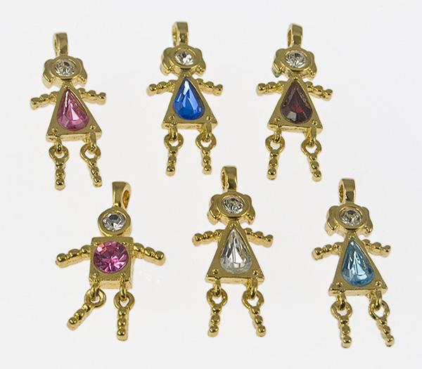 CL73: Assorted Girlfriends Charms (6 Count)
