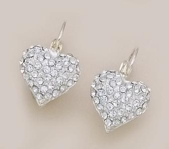 EA261S: Crystal Heart Earrings