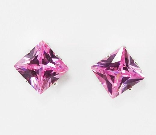 EA310P: Pink Ice Sterling Silver Earrings