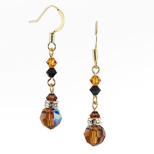 EA426A: Topaz Chandlier Earrings