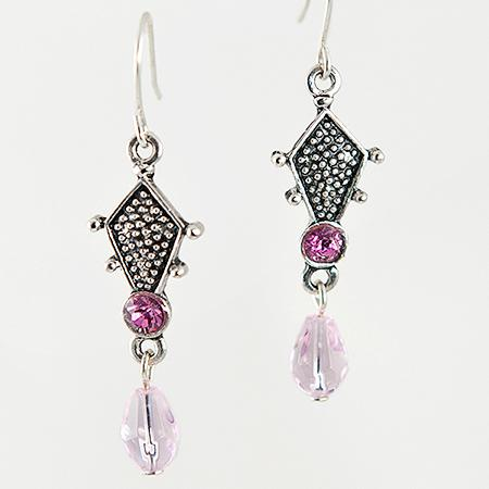 EA435PK: Pink Chandelier Earrings