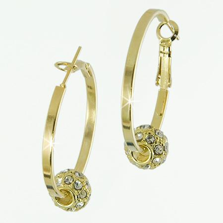 EA459: Austrian Crystal Earrings (in Gold or Silver)