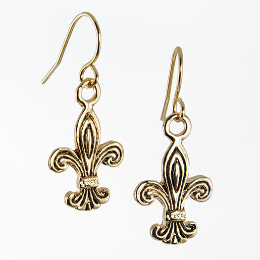 EA581: Fleur De Lis Earrings