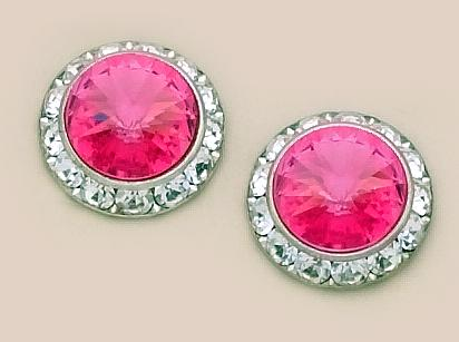 EA60FUS: Fushia Classic Swarovski Crystal Earrings