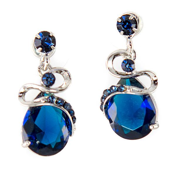 EA667: Blue Shapphire Earrings
