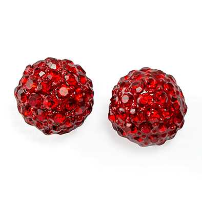 EA703R: Crystal Red Earrings