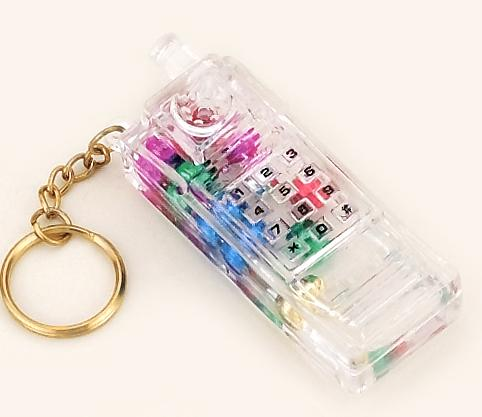 KE09: Lucite Cell Phone Key Chain