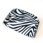 LL015ZSM: Zebra Cosmetic with Blue Zipper