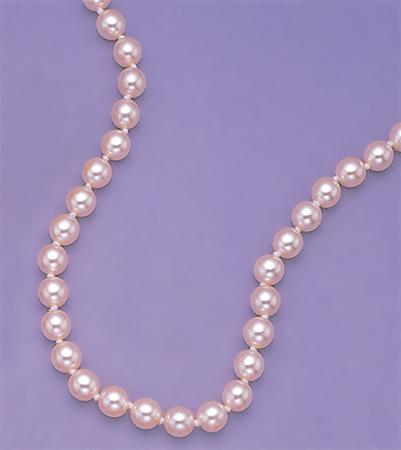 NA08: Blush Glass Pearl Necklace