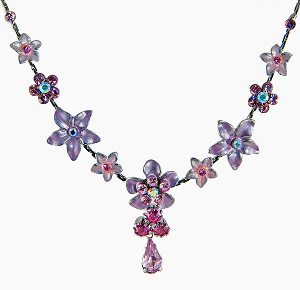 NA222: Austrian Crystal Floral Necklace