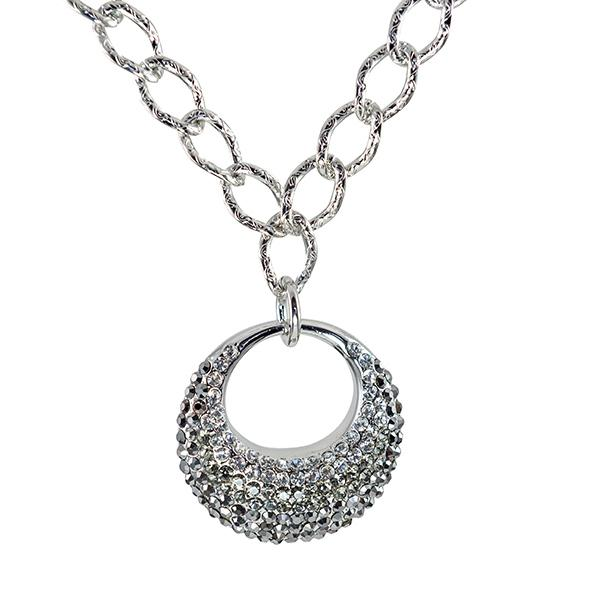 NA271: Austrian Crystal Circle Necklace
