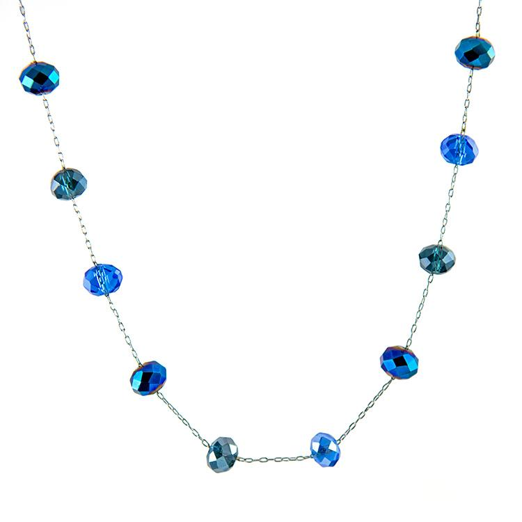 NA279: Crystal Sapphire Necklace