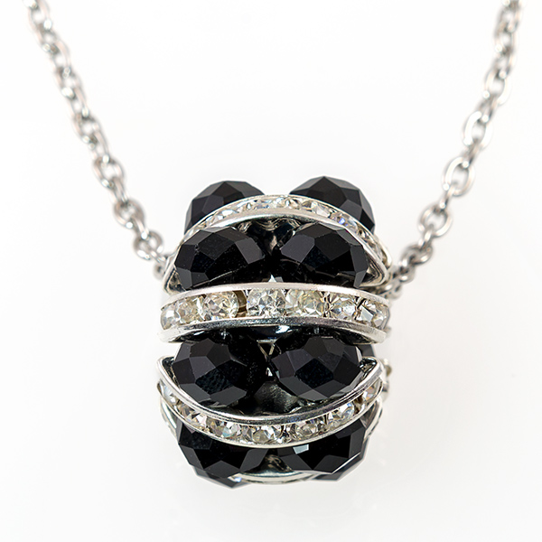 NA293: Black Austrian Crystal Necklace