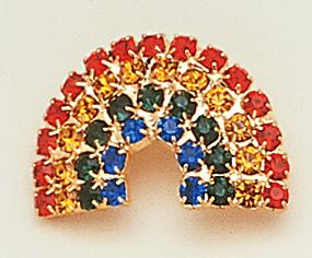 PA195: Crystal Rainbow Pin