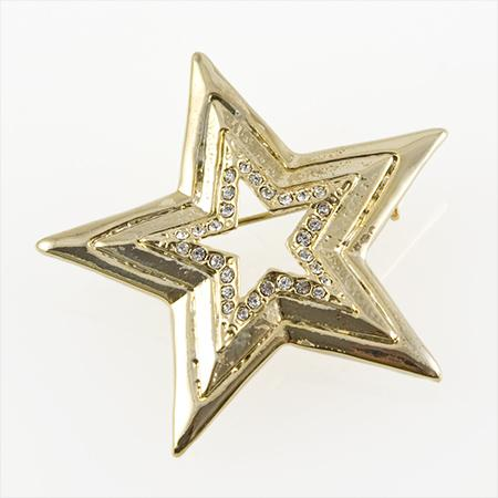 PA548: Gold & Crystal Star Pin