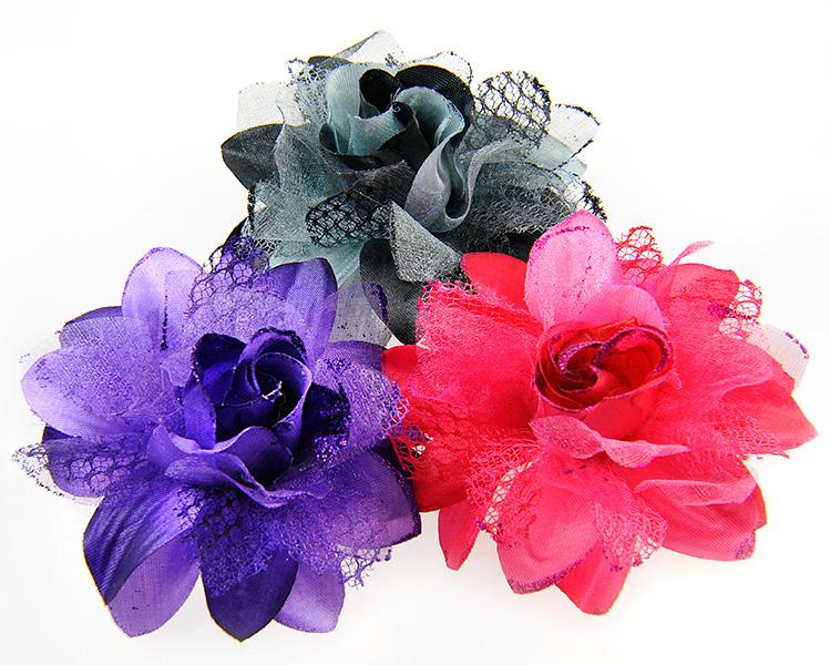 PA587: Silk Flower Pin / Hair Ornament