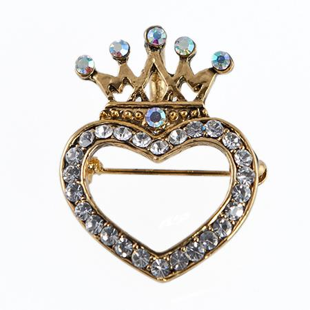 PA603: Elegant Crystal Heart and Crown