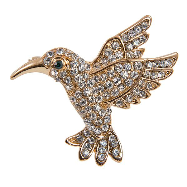 PA630: Crystal Humming Bird Pin