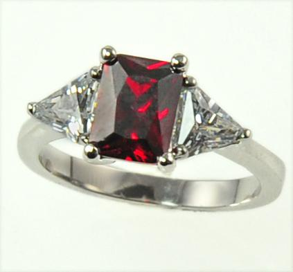 RA111: Ruby Red CZ Ring