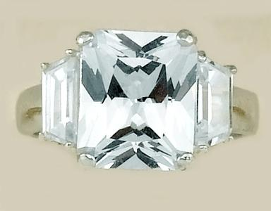 RA13JLC: Sterling Silver JLO Ring, Clear CZ