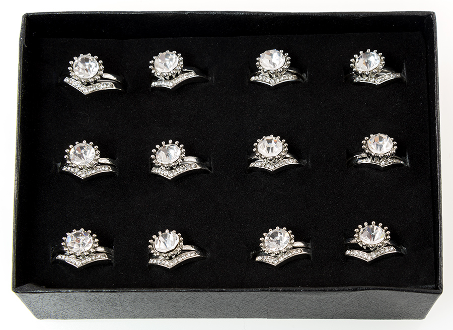 RA196: Rhinestone Ring Assortment