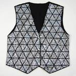 VE77: Silver Triangles Sequin Vest