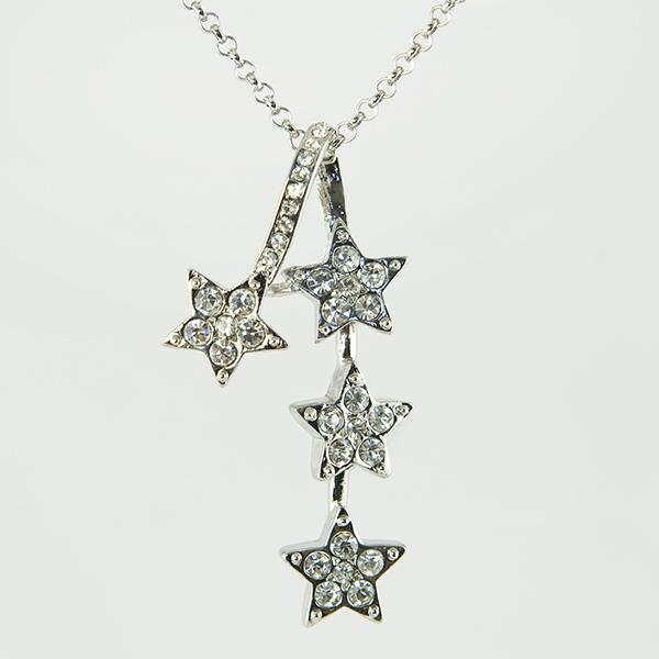 SN215: Stunning Austrian Crystal Star Necklace & Earrings Set